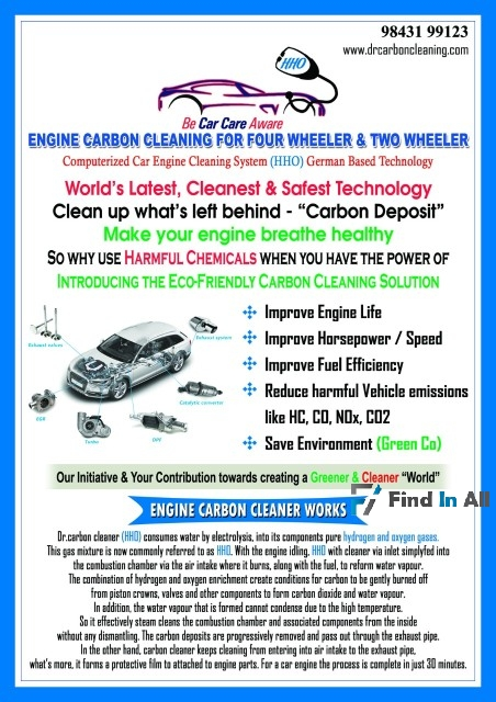 Engine carbon cleaning machine manufacturing & services