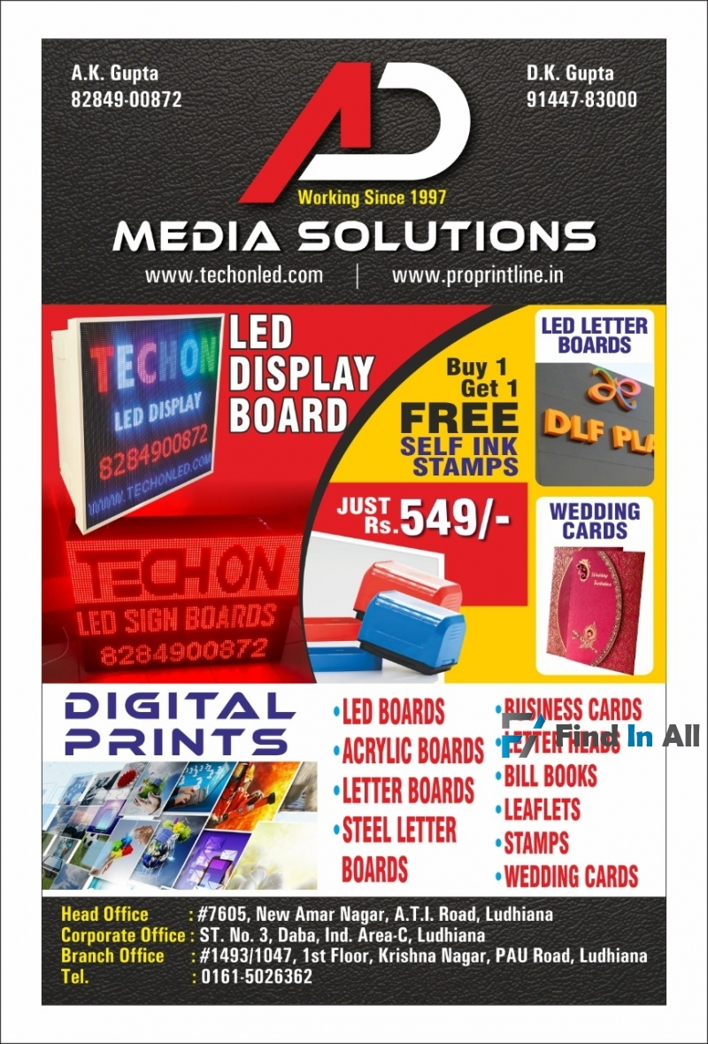 admedia solutions - led boards and flex printing