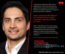 Faraz Khan | Hair Loss | Anti-Anging and Longevity Expert